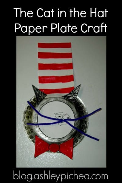 The Cat in the Hat Paper Plate Craft