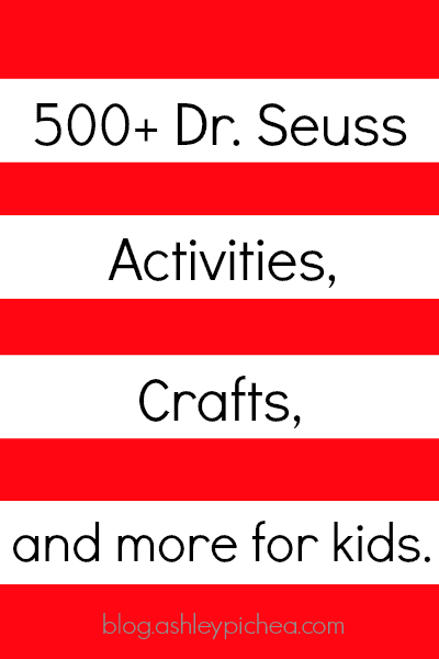 500+ Dr. Seuss Activities for Kids | Do you love Dr Seuss as much as we do? Be sure to check out this massive list of Dr Seuss activities for kids!