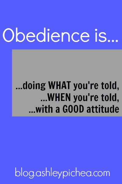 Obedience is... | ashleypichea.com
