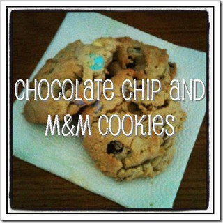 Chocolate Chip and M&M Cookies {recipe}