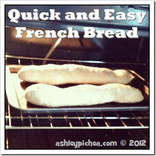 Quick and Easy French Bread {recipe}