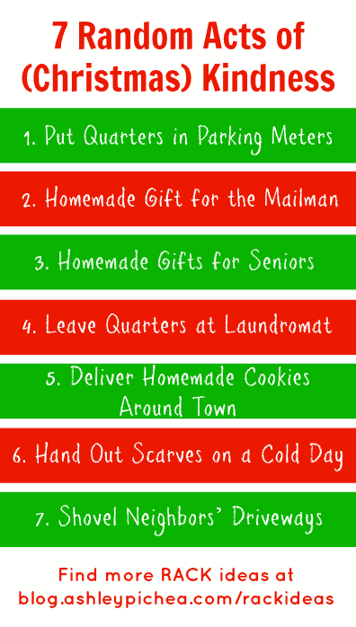 7 Random Acts of (Christmas) Kindness | ashleypichea.com