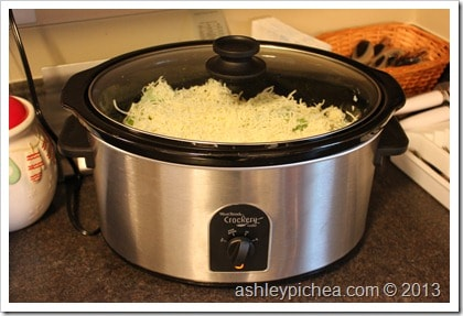 Creamy & Cheesy Crockpot Chicken and Rice - Step 8