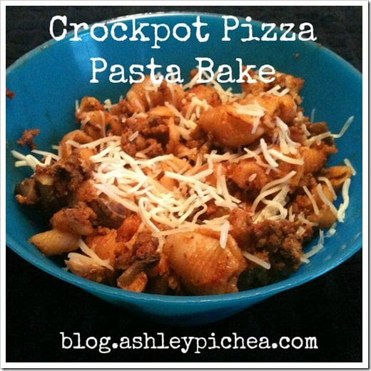 Crockpot Pizza Pasta Bake | easy meal idea for busy families
