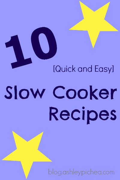 10 Quick and Easy Slow Cooker Recipes