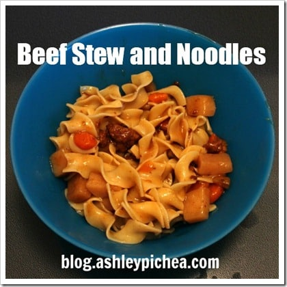 Beef Stew and Noodles | easy meal idea for busy families
