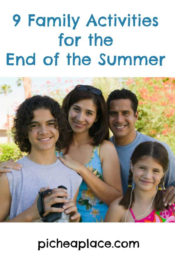 9 Family Activities for the End of the Summer