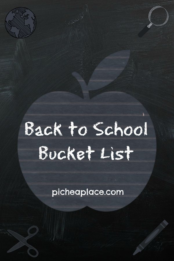 Back-to-School Bucket List
