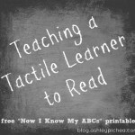Teaching a Tactile Learner to Read