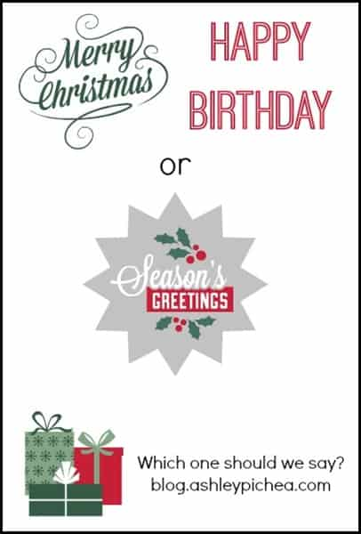 merry christmas happy birthday or seasons greetings - Merry Christmas And Happy Birthday