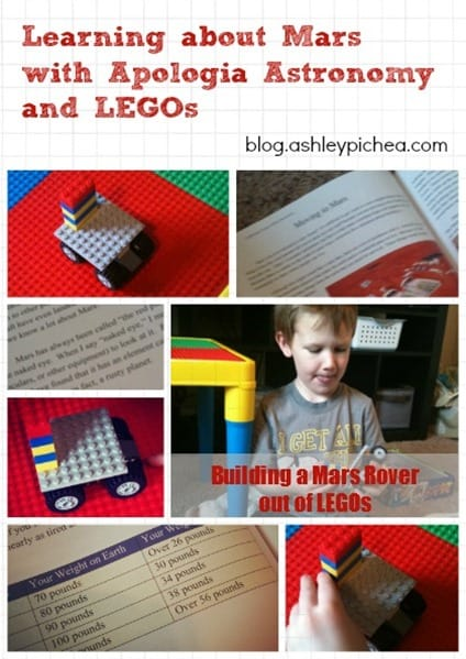 Learning about Mars with Apologia Astronomy and LEGOs | ashleypichea.com