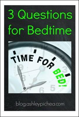 3 Questions for Bedtime | ashleypichea.com