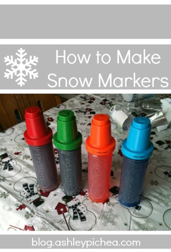 How to Make Snow Markers