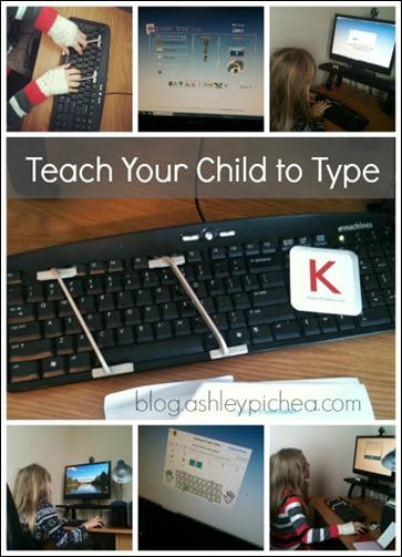 Teach Your Child to Type | blog.ashleypichea.com