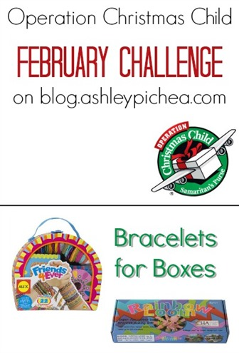 Bracelets for Boxes: Operation Christmas Child February Challenge