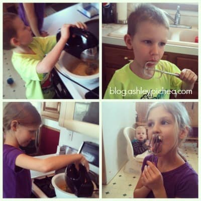 Making Oatmeal Chocolate Chip Cookies with My Kids