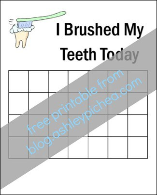 Free Printable - Teeth Brushing Chart