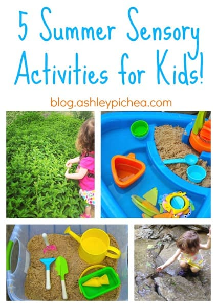 5 Summer Sensory Activities for Children | Summer Bucket List series on ashleypichea.com