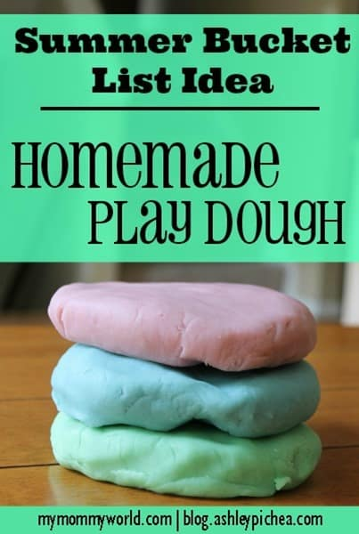 Homemade PlayDough | a Summer Bucket List idea from ashleypichea.com
