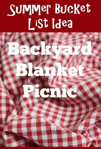 Summer Bucket List Idea: Backyard Blanket Picnic