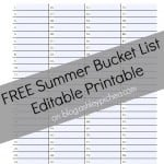 Building a Summer Bucket List