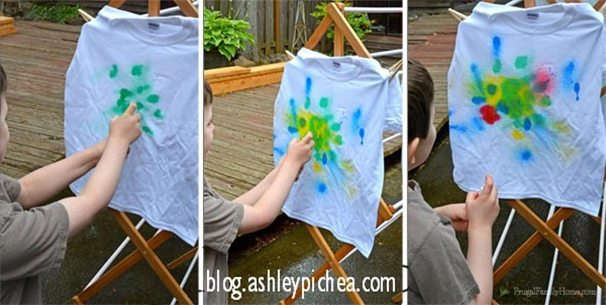 Wonderful Spray Paint T Shirt Ideas Part - 7: T-Shirt Painting With Spray Bottles | A Summer Bucket List Idea On  Ashleypichea.