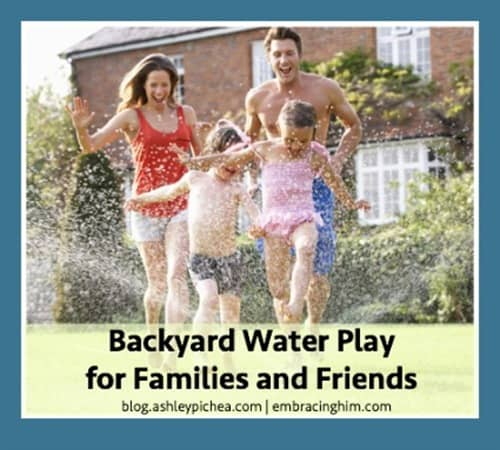 Backyard Water Play for Families and Friends | a Summer Bucket List idea on blog.ashleypichea.com