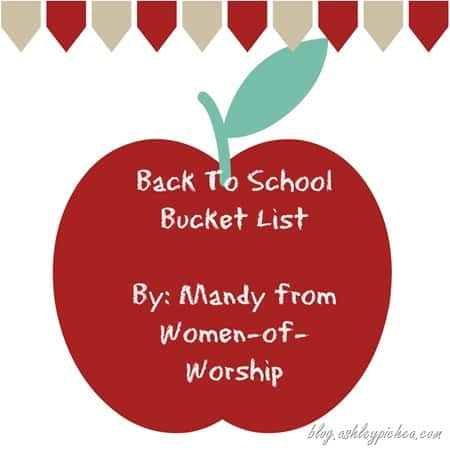 Back to School Bucket List