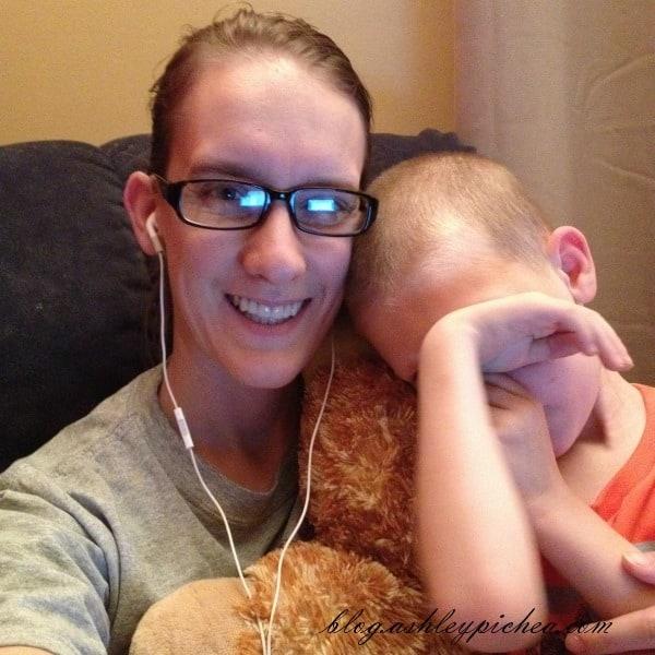 David in my lap | A Day in the Life of a Work-at-Home, Homeschooling Mom