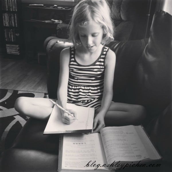 Jenny Doing Extra Math | A Day in the Life of a Work-at-Home, Homeschooling Mom