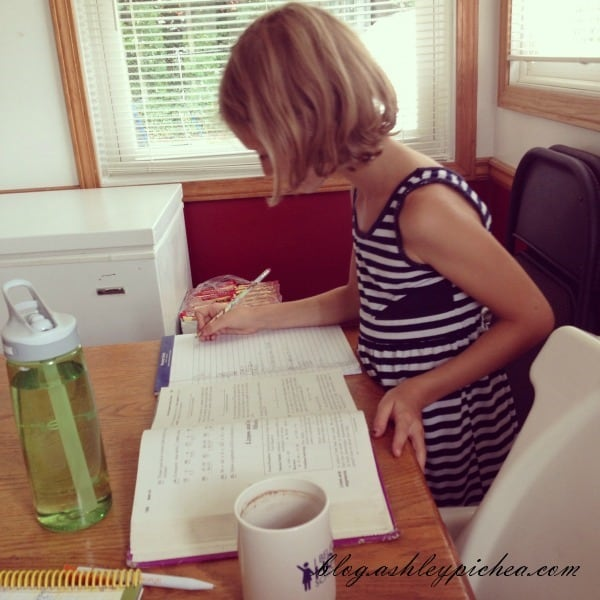 Jenny Doing Math | A Day in the Life of a Work-at-Home, Homeschooling Mom
