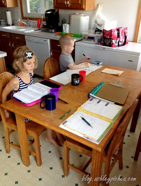Our Homeschool Space: Learning At The Kitchen Table | Ashleypichea.com