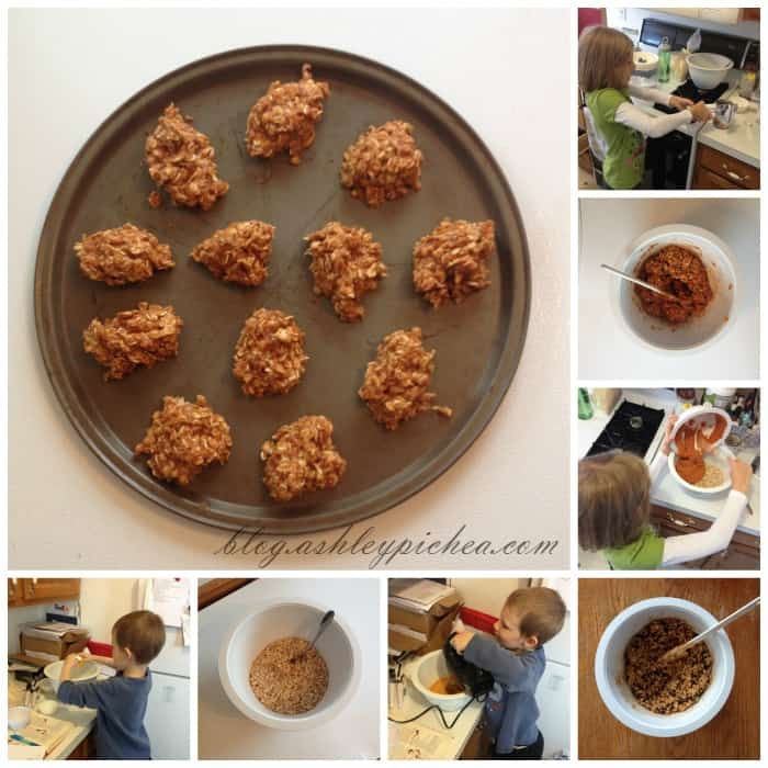 BAKING PUMPKIN OATMEAL COOKIES WITH KIDS