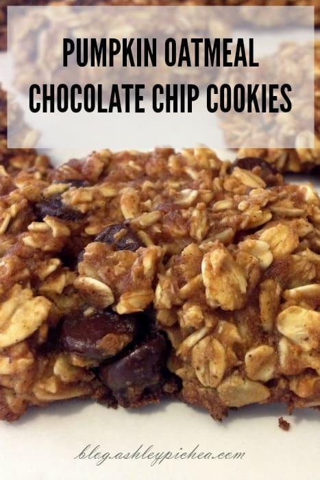 PUMPKIN OATMEAL CHOCOLATE CHIP COOKIE RECIPE