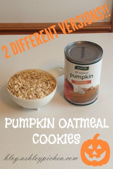 PUMPKIN OATMEAL COOKIE RECIPE
