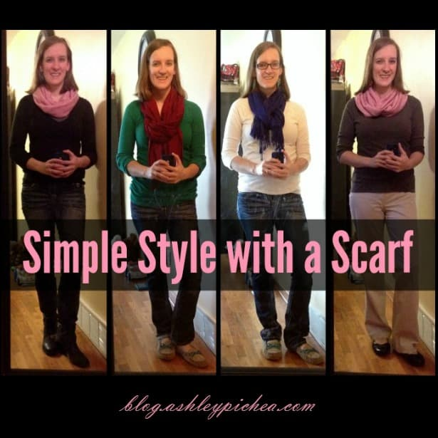 Simple Style with a Scarf