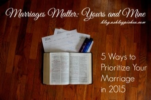 I'm making it a goal to make marriages a priority in 2015: #YoursandMine. When we invest time and energy into growing together as couples, we're better prepared to parent our children and do life together as a family. Click here for 5 tips to help you prioritize your marriage this year... #ad