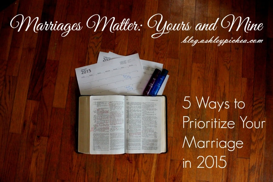 I'm making it a goal to make marriages a priority this year: #YoursandMine. When we invest time and energy into growing together as couples, we're better prepared to parent our children and do life together as a family. Click here for 5 tips to help you prioritize your marriage this year...