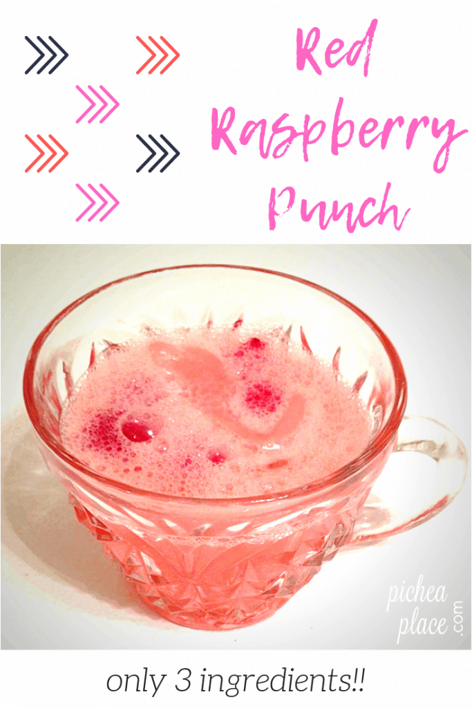 quick and easy raspberry 7up punch recipe with only three ingredients