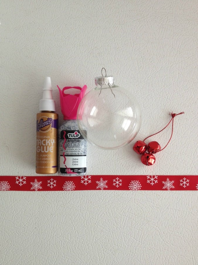 Supplies for Creating a Simple Holiday Ornament
