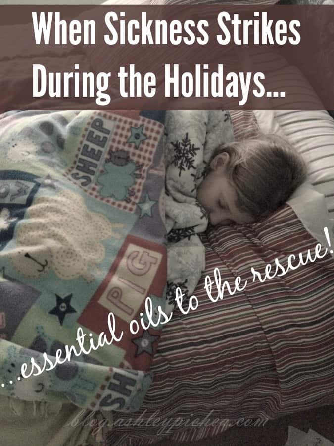 With all the extra exposure to people and extra busyness of the holiday season, germs are inevitable. When sickness strikes during the holidays (like it did at our house), use these tips to fight the germs with essential oils.
