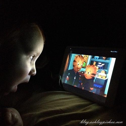toddler watching PBS Kids