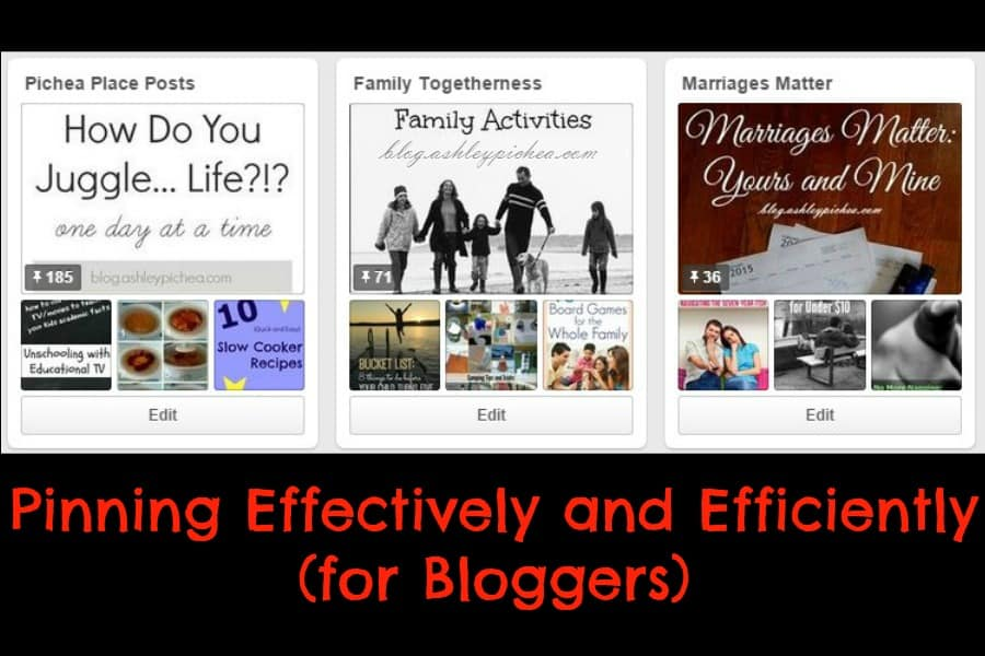 Pinning Effectively and Efficiently for Bloggers