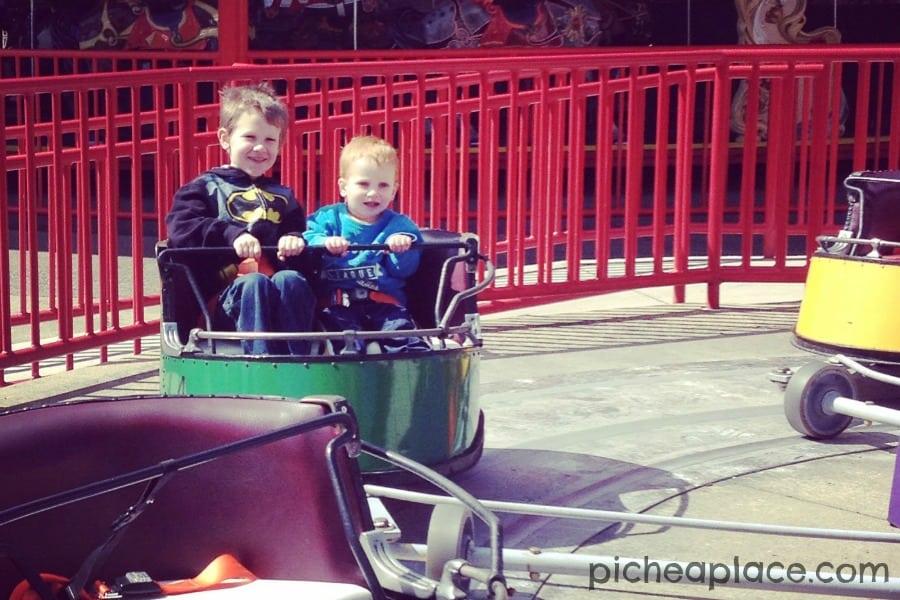 David and Chris at Cedar Point