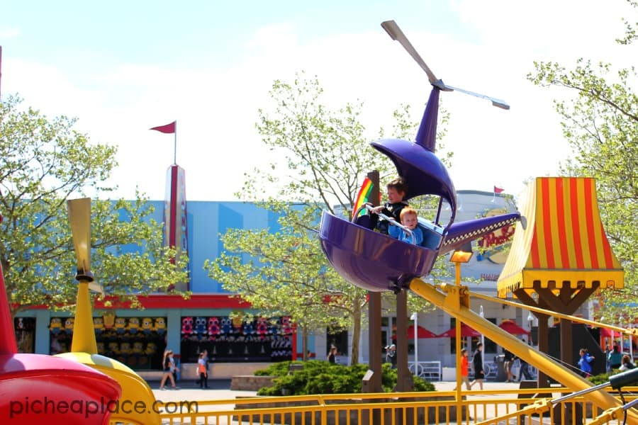 David and Chris flying high at Cedar Point