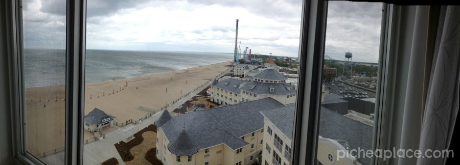 Panoramic View from 9th floor suite at Hotel Breakers