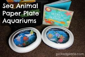 Sea Animal Paper Plate Aquariums