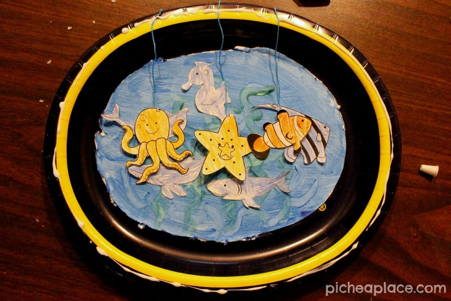 Sea Animal Paper Plate Aquariums