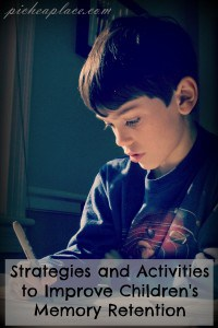 Strategies and Activities to Improve Children's Memory Retention
