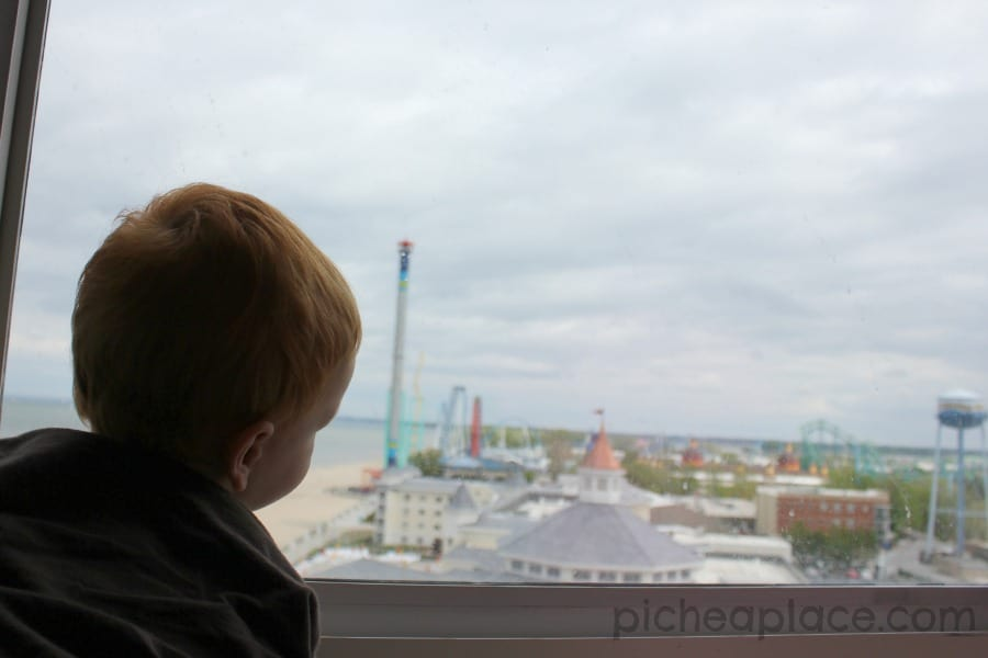 Tips for Enjoying a Cedar Point Staycation - view from 9th floor suite at Hotel Breakers